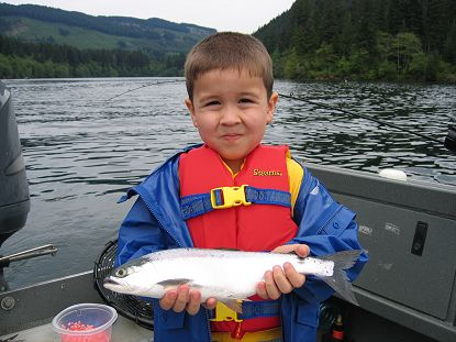 Lake merwin kokanee fishing guides for Lake merwin fishing