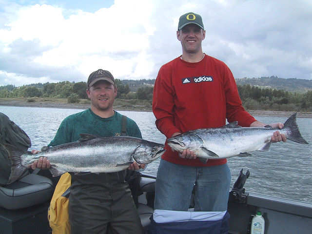 Oregon fishing guide fishing report for Salmon fishing near me