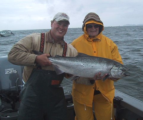 washington fishing guide kevin newell and client