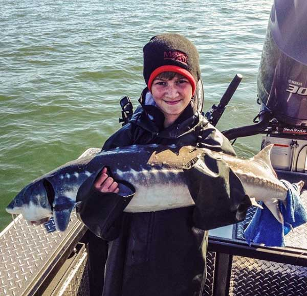 Fishing for Columbia River Sturgeon